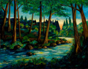 Surreal Landscape Painting Metal Prints - Bartons Creek Metal Print by Larry Martin