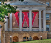 University Metal Prints - Bascom Hall Metal Print by David Bearden