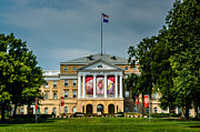 University Of Wisconsin Framed Prints - Bascom Hall Framed Print by Randy Scherkenbach