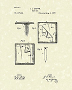 Brown Drawings - Base Bag 1887 Patent Art by Prior Art Design