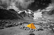 Andean Framed Prints - Base Camp Framed Print by James Brunker