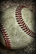Baseball Close Up Framed Prints - Baseball - A Retired Ball Framed Print by Paul Ward