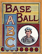 American Pastime Digital Art Posters - Baseball ABC Poster by McLoughlin Bros