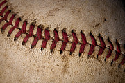 Baseball Closeup Photo Metal Prints - Baseball - Americas Pastime Metal Print by David Patterson