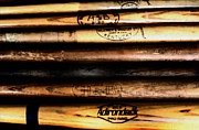League Framed Prints - Baseball Bats Framed Print by Bill Cannon