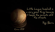 Little League Framed Prints - Baseball Framed Print by Cecil Fuselier