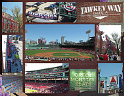 Boston Sox Prints - Baseball Collage Print by Barbara McDevitt