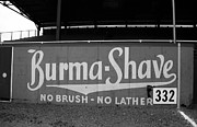 Baseball Game Framed Prints - Baseball Field - Burma Shave Framed Print by Frank Romeo