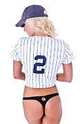 Derek Jeter Framed Prints - Baseball Girl 2 Framed Print by Jt PhotoDesign