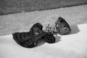 Baseball Mitt Photos - Baseball Glove and Chest Protector by Frank Romeo