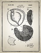 Mitt Posters - Baseball Glove Patent Poster by Digital Reproductions