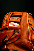 Baseball Glove With Ball Print by Danny Hooks