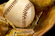 Baseball Macros Photo Metal Prints - Baseball Has Been Very Good to Me Metal Print by Don Schwartz
