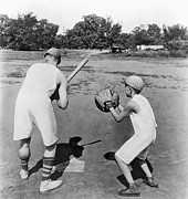 Baseball Fields Metal Prints - Baseball In Union Suits Metal Print by Underwood Archives