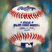 Mlb Metal Prints - Baseball IV Metal Print by Lourry Legarde