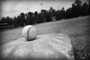 Baseball Field Art - Baseball by Kelly Hazel