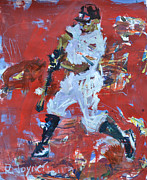 Mlb Mixed Media Prints - Baseball Painting Print by Robert Joyner