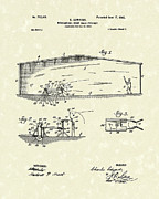 Base Ball Prints - Baseball Pitcher 1902 Patent Art Print by Prior Art Design
