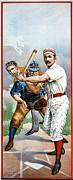 Baseball Player At Bat Print by Unknown