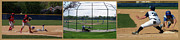 Baseball Playing Hard 3 Panel Composite 01 Print by Thomas Woolworth