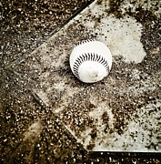 Mlb Metal Prints - Baseball Rocks Metal Print by Shawn Wood