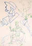 Baseball Originals - Baseball Set Up Drawing by Troy Thomas