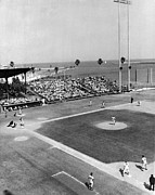 Baseball Fields Metal Prints - Baseball Spring Training Metal Print by Underwood Archives