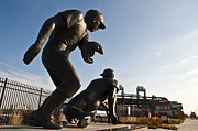 Phillies  Prints - Baseball Statue at Citizens Bank Park Print by Bill Cannon