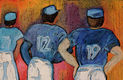 Baseball Uniform Painting Metal Prints - Baseball Team by jrr  Metal Print by First Star Art