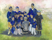Baseball Painting Metal Prints - Baseball Team Metal Print by Stephanie  Broker
