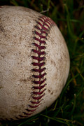 Baseball Seams Photo Metal Prints - Baseball - The National Pastime Metal Print by David Patterson