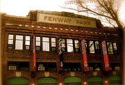 Baseball's Classic  Bostons Fenway Park Print by Iconic Images Art Gallery David Pucciarelli