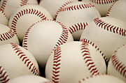 Baseball Art Print Photos - Baseballs II by Ricky Barnard