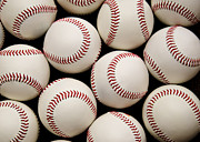 Baseball Art Print Photos - Baseballs by Ricky Barnard