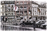 Cop Cars Prints - Basel Switzerland 1950s Print by Eric  Bjerke Sr