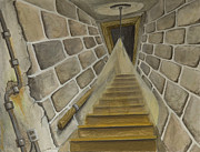 Basement Framed Prints - Basement Stairs Framed Print by Brenda Salamone