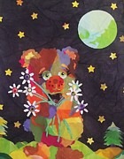 Moonlit Night Mixed Media - Bashful Romantic by Diane  Miller