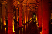 Byzantine Digital Art Metal Prints - Basilica Cistern Metal Print by Pravine Chester