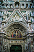 Fiorenza Prints - Basilica di Santa Maria del Fiore Florence Italy Color Enhanced Print by Karen Stephenson