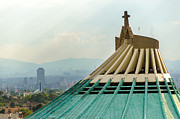 Mexican Holiday Prints - Basilica of Our Lady of Guadalupe Print by Jess Kraft