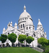 Bishop Hill Framed Prints - Basilica of Sacre-Coeur Framed Print by Andrea Anderegg