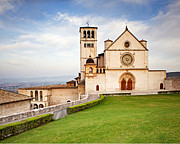 St. Francis Of Assisi Prints - Basilica of Saint Francis Print by Susan  Schmitz