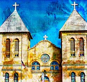 Basilica Of San Albino Mesilla New Mexico Print by Barbara Chichester