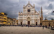 San Rafael Church Prints - Basilica of Santa Croce Print by Arnaldo Torres