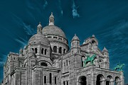 Sacre Coeur Art - Basilica of the Sacre Coeur by Mountain Dreams