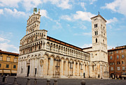 Lucca Photos - Basilica San Michele in Foro in Lucca Italy by Kiril Stanchev
