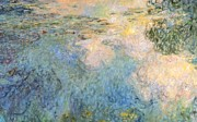 Blurry Painting Prints - Basin of water lilies Print by Claude Monet