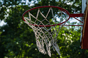 Basketball Abstract Photos - Basket - Featured 3 by Alexander Senin
