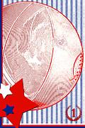 Basketball Americana Print by ArtyZen Kids