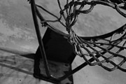 Michael Jordan Photo Prints - Basketball at night Print by Nathanael Verrill